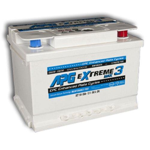 APG XET104 Extreme 3 Max - Batteria auto adatta anche per veicoli con sistema START & STOP in acido libero, 65Ah