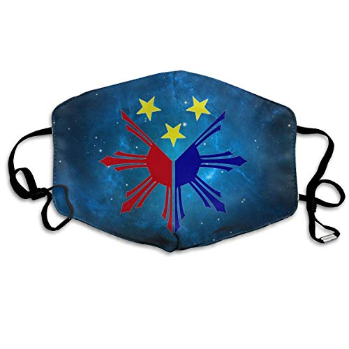 Masken für Erwachsene, Mask Face, Mouth Mask, Breathable Mask Anti Dust, Philippines Sun And Stars Flag Anti Dust Face Mouth Cover Mask Activated Carbon Breath Healthy Safety Warm Windproof Mask