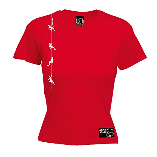 Adrenaline Addict - T-shirt - Slogan - Manches Courtes - Femme red