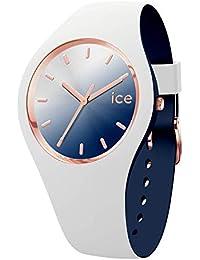 Ice-Watch - ICE duo chic White marine - Montre blanche pour femme avec bracelet en silicone - 016983 (Medium)