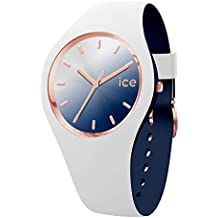 Ice-Watch - ICE duo chic White marine - Montre blanche pour femme avec bracelet en silicone - 016983 (Medium)