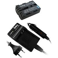Battéria + Chargeur pour SONY Alpha 57, 65, 200, 300, 500, 700, 900, DSLR-A200, DSLR-A300, DSLR-A350, DSLR-A700, DSLR-A900, SLT-A77, NP-FM500H