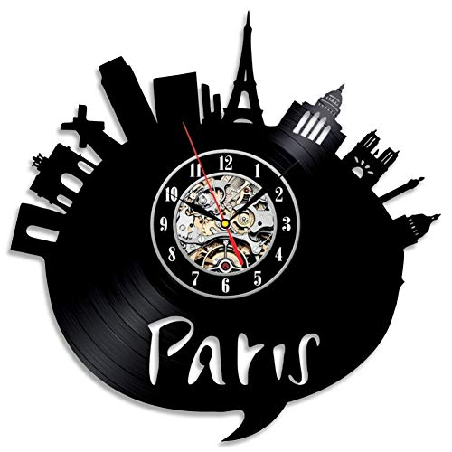 DFRTY Urban handgefertigte kreative Vinyluhr Zifferblatt optisch ruhig und sicher -