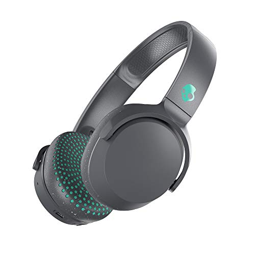 Skullcandy Riff Wireless On-Ear Headphones with Microphone, Bluetooth Wireless, Rapid Charge 10-Hour Battery Life, Foldable, Plush Ear Cushions with Durable Headband, Grey/Speckle/Miami