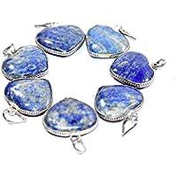 Pendant - lapis lazuli Heart Set Of 3, Natural Gemstone, Original Stone,Chakra Balancing, Crystal Stone. preisvergleich bei billige-tabletten.eu