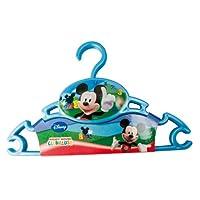 Rotho Babydesign 20422 0050 AB Kleiderbügel Disney - Mickey, 3 Stück, groß, blau