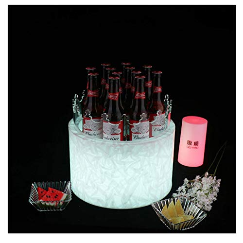 Eiskübel Eiskühler EIS Eimer Sektkühler LED Eiskübel Original Bar Kreative Bunte Beleuchtete Eiskübel Kuchen Bierflasche Champagner Wein Bierfass Eiskübel KTV (Color : Colorful Remote Control)
