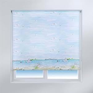 sunlover store enrouleur accents thermique motif vue sur la mer 60 cm largeur amazon. Black Bedroom Furniture Sets. Home Design Ideas
