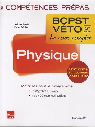 Physique 2e année BCPST-VETO