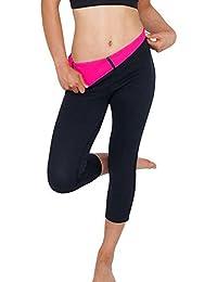 FITTOO Pantalones Sauna Deportivos Mujer Yoga Leggings de Alta Cintura Elásticos y Transpirables para Running Fitness con Gran Elásticos y Seca Rápido