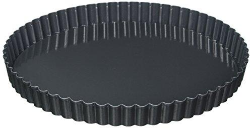 Kaiser La Forme Plus Quicheform, Ø 28 cm, Obstkuchenform, mit Hebeboden Wellenrand, Kairamic Antihaftbeschichtung, schnittfester, Emaille-Boden