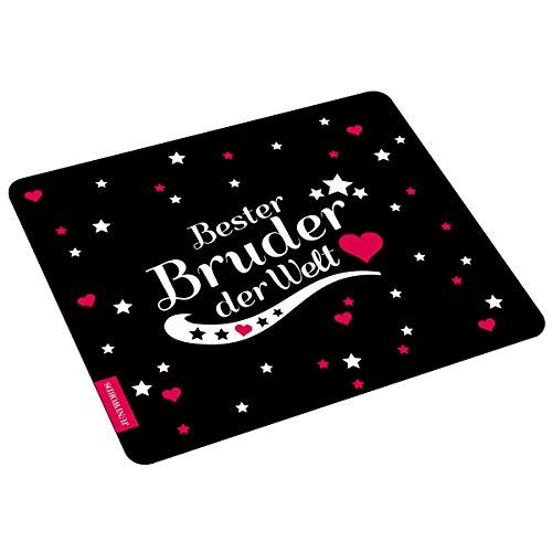 "Wandkings Mousepad / Mauspad mit Schriftzug ""Bester Bruder der Welt"" – ideales Geschenk für Brüder"