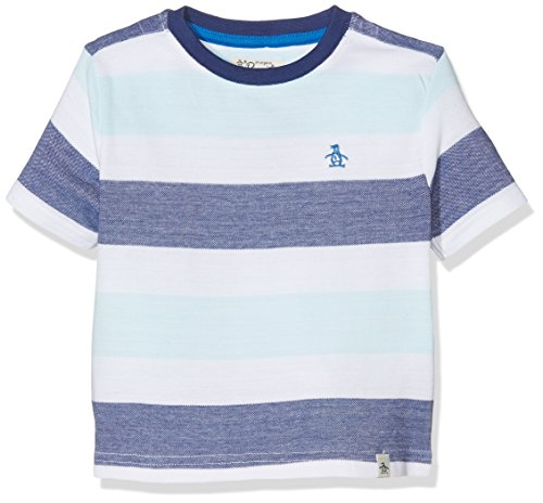 original-penguin-piquet-stripe-t-shirt-garon-blanc-blanc-clatant-2-3-ans