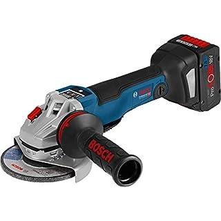 Bosch Professional Akku-Winkelschleifer 06019G3F01 GWS 18V-125 PSC 2x7,0 Ah-L-Boxx, 10 W, 18 V, Schwarz, Blau