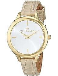 TOM TAILOR Watches Damen-Armbanduhr Analog Quarz Leder 5414802