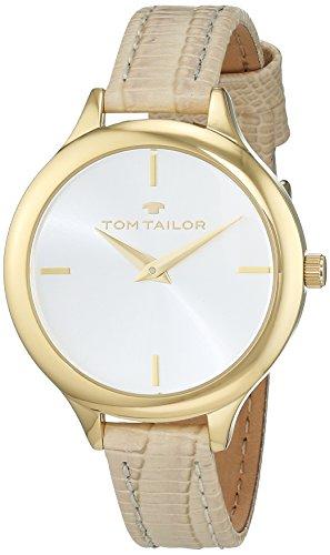 Tom Tailor - 5414802 - Montre Femme - Quartz - Analogique - Bracelet cuir Beige