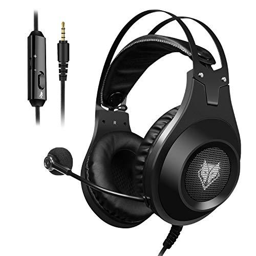 ELEGIANT Gaming Headset ps4, Gaming Kopfhörer Noise Cancelling Headphones Bügelkopfhörer mit Reiner Tonqualität Mikrofon 3,5mm Klinke für PS4 Pro/PS4 Xbox One PC Laptop Tablet Mac thumbnail