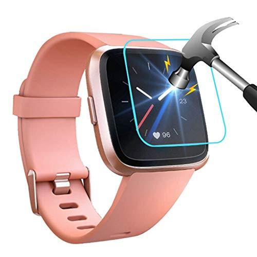 [5Stück]Geeignet für Fitbit Versa Lite Smart Watch 9H gehärtete Folie Panzerglasfolie, Smartwatch Schutzfolie,screen protector,kratzfeste Schutzfilm,wasserdicht Schutz,ultradünne Schutzhülse(5pcs)