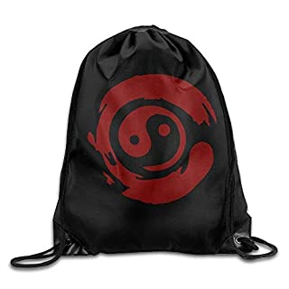 Icndpshorts Bonsai Tree In Yin Yang Drawstring Pack Beam Mouth School Travel Backpack Rucksack Shoulder Bags for Men and Women