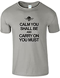 SNS Online SportsGrey - Youth (S) Kids 5-6 Years Calm Carry YODA Kids Girls Boys Unisex T Shirt