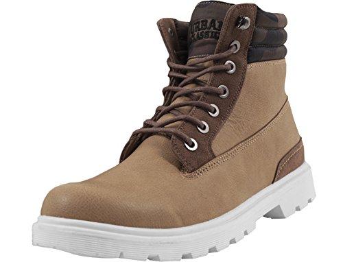 Urban Classics Herren Winter Boots Chukka, Braun (Beige/Woodcamo), 42 EU (Classic Chukka)