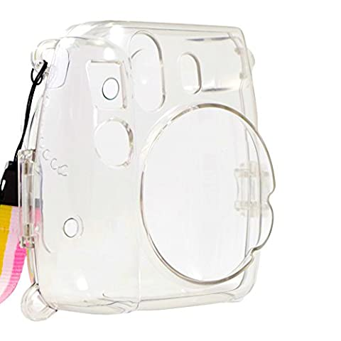 Alohallo Instant Mini 8 Transparent Case with Camera Shoulder Strap and Cleaning Cloth -