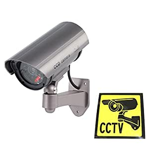 Ex-Pro High Quality Dummy / Fake CCTV IR Security Camera /indoor housing camera. With built-in flashing LED, Fake LED IR. Mounting bracket included.