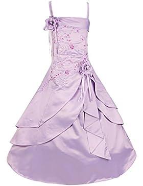 YiZYiF Kinder Mädchen Kleider Lang Brautjungfern Kleid Prinzessin Festlich Hochzeit Partykleid Blumenmädchenkleid...