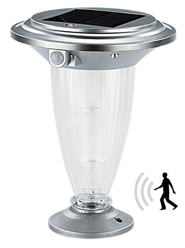 "Lunartec Garten-Wegbeleuchtung: Solar-LED-Laterne ""Basic"" mit PIR-Bewegungsmelder (LED-Solar-Wegeleuchten mit Bewegungssensor)"