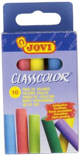 Jovi 307012 - Caja con 10 tizas (anti polvo), multicolor