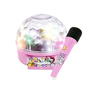 CLAUDIO REIG- Princesas Disney Micro Bola luz bluetoth Bluetooth, Color Rosa (5295.0)