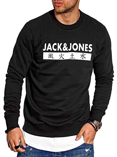 JACK & JONES Herren Sweatshirt Pullover Print Rundhals Streetwear 4 Elements (X-Large, Tap Shoe)