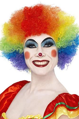SMIFFYS Smiffy's Parrucca da Clown Pazzo, Color Arcobaleno, 120g per Adulti, Taglia unica 42088