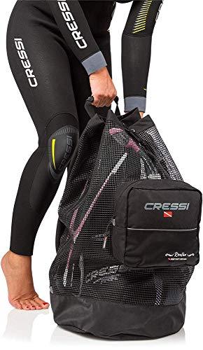 Cressi Unisex- Erwachsene Roatan Heavy Duty Bag Tauch Netzbeutel/Rucksack Schwarz, 90 LT