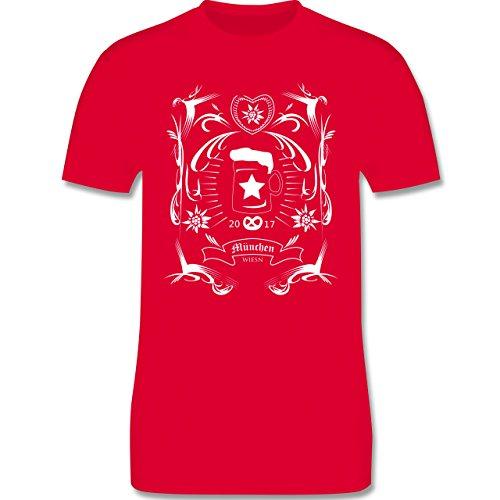 Oktoberfest Herren - Oktoberfest 2017 Rockabilly - Herren Premium T-Shirt Rot