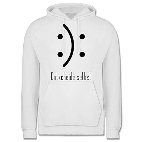 Symbole - Entscheide selbst Smile - Männer Premium Kapuzenpullover / Hoodie Weiß