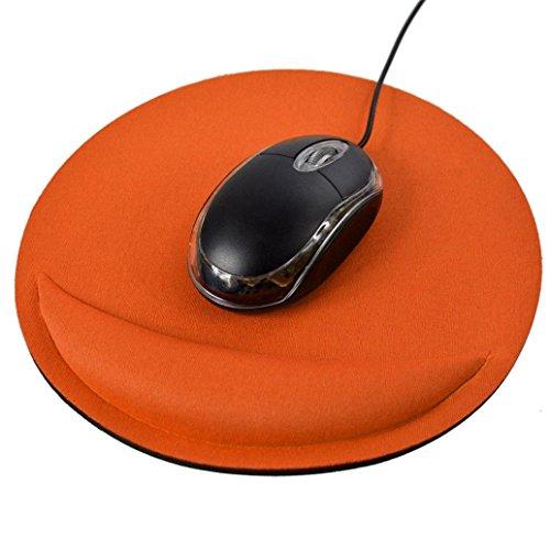 Armband Maus Pad, yoyoug Gel Handgelenkauflage Spiel Maus Matte Pad für Computer PC Laptop rutschfeste, Orange, Einheitsgröße (Handgelenk-rest-maus-pad, Orange)