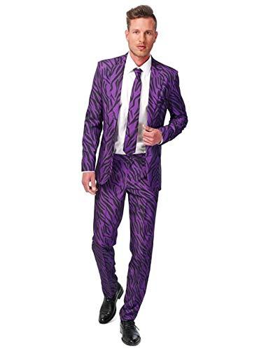 Suitmeister Halloween Anzüge - Pimp Tiger - Mit Jackett, Hose und Krawatte - S