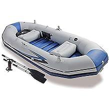 DMBHW Barco de Asalto 3 Personas Bote Salvavidas Barca Hinchable El Motor Puede ser Instalado Espesar