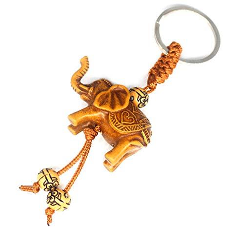 Jixing - Llavero diseño elefante suerte, mujer hombre