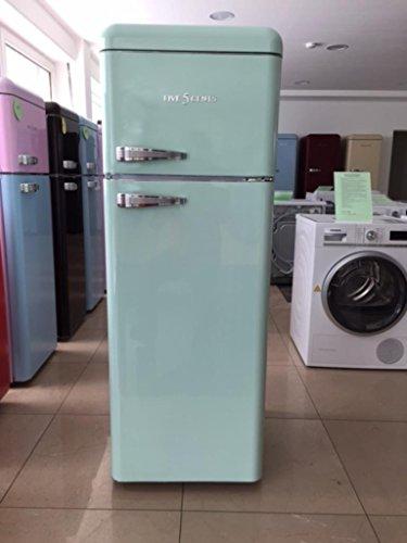 Retro Kühlschrank Lila Glanz/A+ / Kühl- Gefrierkombi/SL 208 / Five5Cents / Rippenlos/Außenhülle ist aus Metall /
