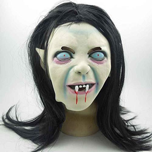 Bomcomi Halloween-Hexe-Geist-Schablone Grudge Sadako Armkugel Zombie Schwarzen Maske Maske