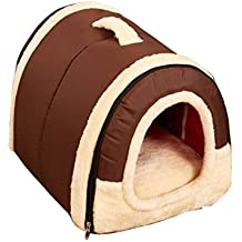 Qotone Dog House Kennel Nest With Mat Plegable Cama de perro para mascotas Cama de gato