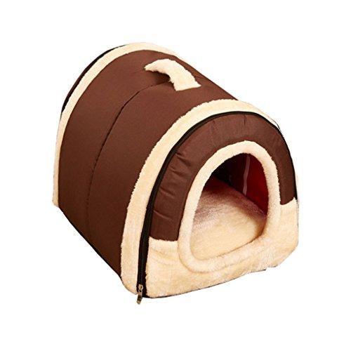 Ben-gi Dog House Kennel Nest mit Matte Faltbare-Hundebett-Katze-Bett-Haus für Small Medium Hunde -