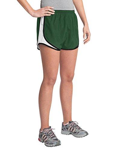 Sport-Tek Damen Badeshort Mehrfarbig - Forest Green/White/Black