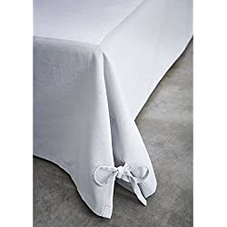 Today 576334Cache - Funda de somier, algodón/tela tejida/polipropileno, algodón, gris zinc, 160 x 200 cm