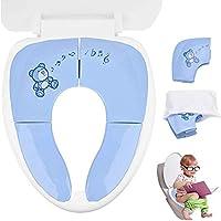 Cymax Asiento Plegable Inodoro Portátil para Niños Bebés,Tapa WC Plegable para Los Niños de Viajes