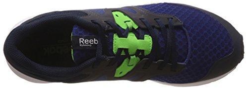 Reebok Exhilarun, Baskets Pour Homme Bleu / vert / blanc (balise nocturne / bleu marine collégial / vert solaire / blanc / bleu)