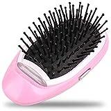 leegoal Mini Cepillo de Pelo iónico, portátil eléctrico Ionic Hairbrush peinadores Cuero cabelludo masajeador.