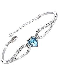 Fashion Jewelry Unique Gift In Pain Stick Elegant Bracelet Rhodium Plated Women Statement Jewelry